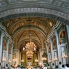 The Interior Of San Agustn Church In Manila.
