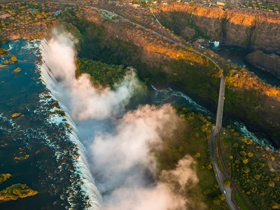 Victoria Falls From High Above - Zambia