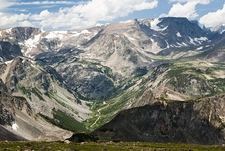 View Beartooth Mountains From Beartooth Highway
