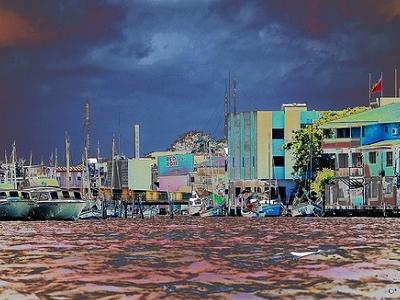 View Belize City