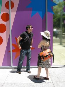 Visitors Outside YBCA