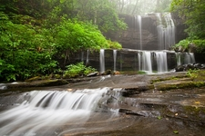 Waterfall In Blue Ridge Mountains - South Toe NC