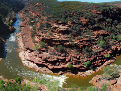 Murchison River Gorge From Z Bend