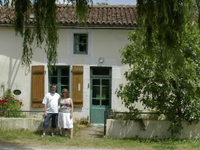 Friendly family in rural France -