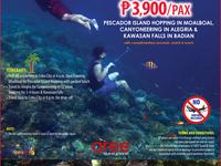 Day Tour Package D P3,900/Pax
