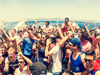 Oceanbeat Ibiza Boat Party Champagne Shower