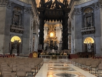 St. Peter\'s Basilica - Papal Altar & Bernini\'s Baldachin
