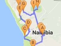 12 Days In Namibia Map