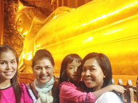 At Wat Pho With My Family.