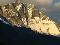 Mt  Nuptse  7861 Meter  Mt  Lhotse  8516 Meter  Mt  Shartse  7502 Meter  As Seen From Dingboche Everest Region