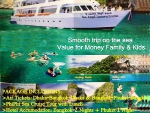 Dhaka-Bangkok-Phuket-Phi Phi Island Cruise Tour Package Photos