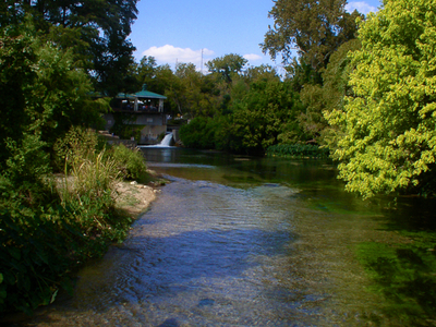 San  Marcos  River   Downstream From The Headwaters