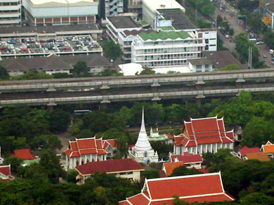 Wat Pathum Wanaram From Baiyoke Tower