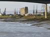 The River Avon With Avonmouth And The M5 Bridge