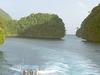 Channel Between The Rock Islands