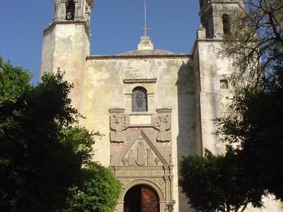 Church Facade Of The Monastery In Tepotztlan