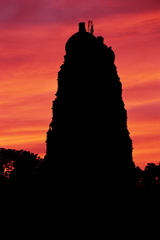 Sunset View Of The Temple
