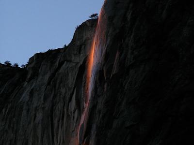 Horsetail Fall Illuminated By The Setting Sun
