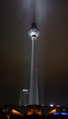 The Fernsehturm At Night