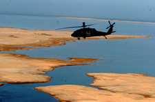 US Army Helicopter Over Lake Habbaniyah