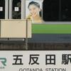 JR Gotanda Station With Yamanote Line EMU