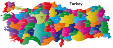 Map Of Turkey And 81 Provinces