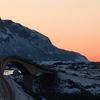 Storseisundet Bridge During Winter