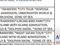 Singapore Package December 2013