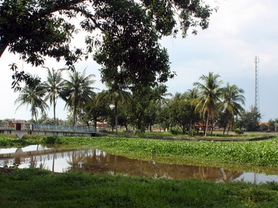 Cempaka Island, An Artificial Island In The Middle Of A Pond