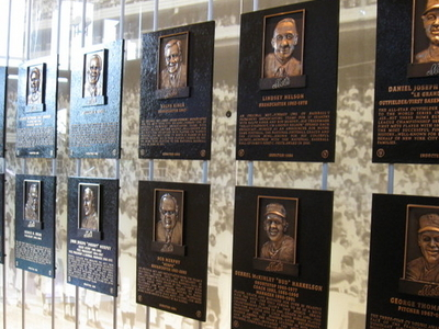 Plaques Of The New York Mets Hall Of Fame