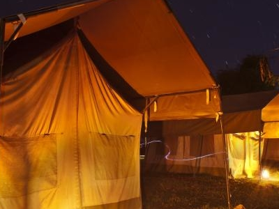 Safari Tents By Night