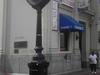 Sidewalk Clock At Front Of Bank