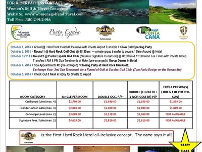 Wimens Golf And Spa Tournament Oct 1-5 2014