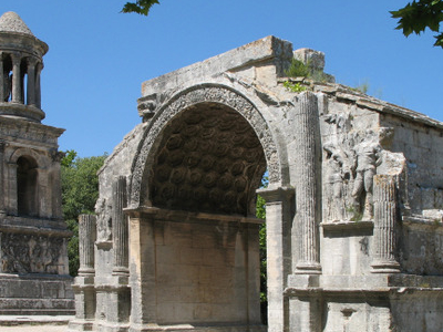 Roman Site Les Antiques Of Glanum With The Mausoleum
