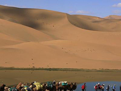 Badain Jaran Desert Treking