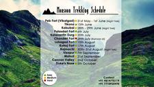 Monsoon Trekking Schedule