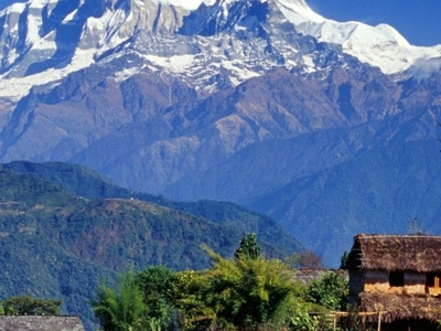 Village In Gandaki Annapurna Range Nepal