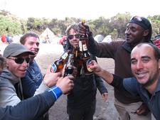 Kili Beer Party After Summit At Mweka Camp