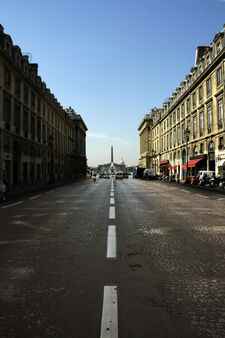 Rue Royale From The Place De La Madeleine