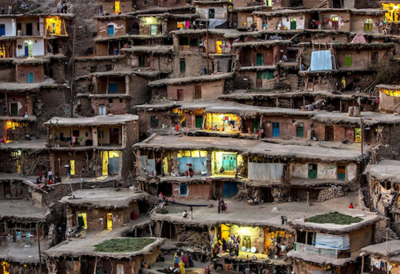 Mountainous Village In Iran