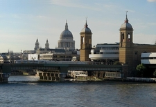 Cannon Street Station Viewed From London Bridge