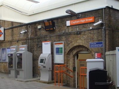 Clapham High Street Station Entrance