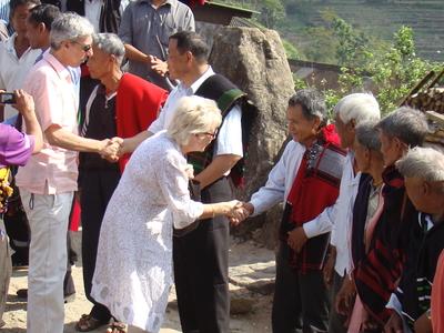Members Of EU Ambassadors Visiting Khonoma Village