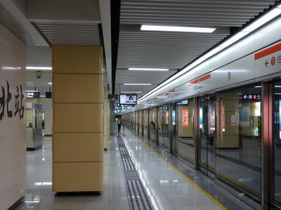 Gangxia  North Station  Platform  2 0 1 3 0 9 1 5
