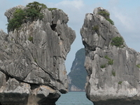 Halong Bay The Kissing Rocks