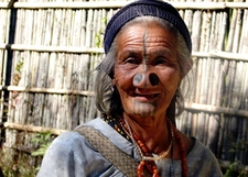India Culture Tribal Arunachal Pradesh Apatani Woman