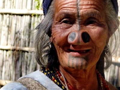 India Culture Tribal Arunachal Pradesh Apatani Woman