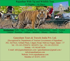 Rajasthan With Taj And Wildlife Tour