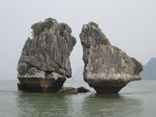 The Kissing Rocks Ha Long Bay Vietnam