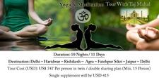 Yoga Meditation Tour With Taj Mahal